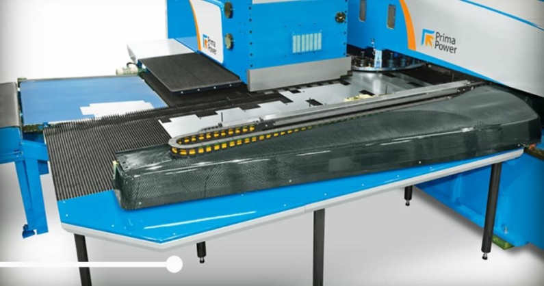 Prima Power is delivering the most effective sheet machining machines equipped with a carbon fiber co-ordinate table.