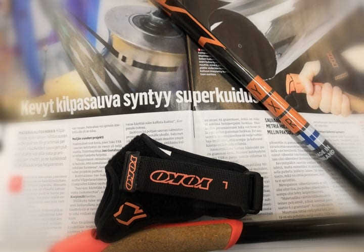 Tekniikan Maailma magazine in Finland introduces a high-end ski pole developed in co-operation with YOKO and CSI.